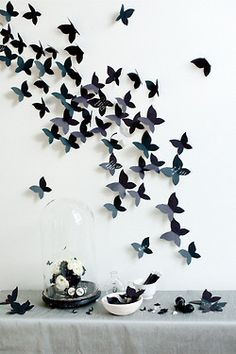 Black butterfly decorations, don't like the black but an idea @Christa Vickers Rupar