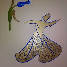 Image result for tezhip lale Whirling Dervish, Arabic Art, Turkish Art, Figure Painting, Islamic Art, Persian, Moose Art, Sufi, Instagram