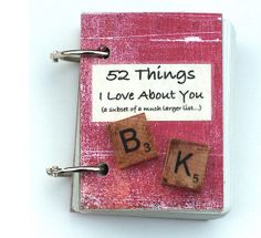 DIY 52 Things I Love About You   Emmaline Bride