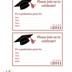 Free printable graduation party templates printable graduation in graduation party invitation printables stopboris Image collections