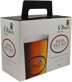 St Peter's IPA (ABV 5.5%) 32 pint beer kit.  A traditional, full-bodied India Pale Ale with a zesty character.For more information call 01606 359 137.