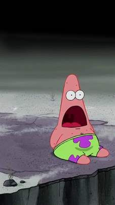 I loved when patrick made that face! Lol