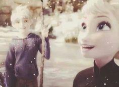 The way Jack looks at Elsa <3