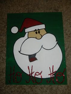 Santa Christmas painting https://www.etsy.com/listing/167518059/santa-christmas-painting-with-ho-ho-ho