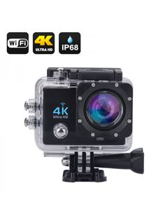 Wi-Fi Waterproof Sports Action Camera - Ultra HD, Inch LCD Display, HDMI Out, 170 Degree Wide Angle (Black)At a Glance. Capture stunning pics and video footage with the Wifi Waterproof Sports Action CameraThe action camera will record . Camera Canon 6d, Camera Digital Canon, Camera Sony, Cameras Nikon, Camera Gear, Video Camera, Remote Camera, Gopro Hero 5, Fujifilm Instax Mini