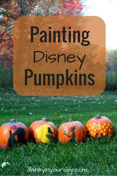 Painting Disney Pumpkins - another great option to carving pumpkins is painting them.  I even do mine on fake pumpkins so I can reuse them every year!  Check out my collection of painted Disney pumpkins!