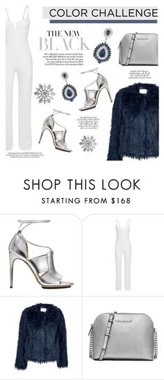 """#304"" by lily1lol ❤ liked on Polyvore featuring Calvin Klein, Samsøe & Samsøe, MICHAEL Michael Kors, Carolee and blueandsilver"