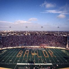 In the fall of 1928, the Baylor University Golden Wave Band debuted the golden uniforms for which they are named. (Here they are in a version of that uniform during the 1976 Baylor Homecoming game.) While the band was touring west Texas in the spring of 1928, a reporter wrote that the band seemed to be sweeping across the land like a golden wave, and the phrase stuck!