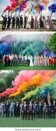 50 + Cool & Colorful Smoke Bomb Wedding Inspirations You Will Love Cool & creative wedding smoke bombs hottest smoke photography colored smoke bombs for your wedding inspirations fall trends smoke bombs wedding smoke send off Perfect Wedding, Fall Wedding, Wedding Ceremony, Dream Wedding, Wedding Venues, Rose Wedding, Wedding Makeup, Wedding Flowers, Color Smoke Bomb