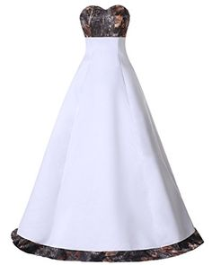 1748debac1d6b Amazon.com: Gorgeous Bridal Strapless Simple Camo Floor Length Formal Gown  for Wedding- US Size 2: Clothing