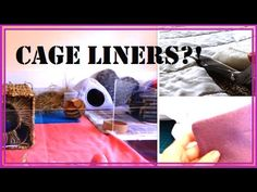 How to Make Fleece Liners for Your Guinea Pig Cage - YouTube