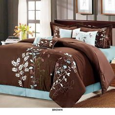 8-Piece Set: Bliss Garden Comforter Collection - Assorted Colors at 66% Savings off Retail!