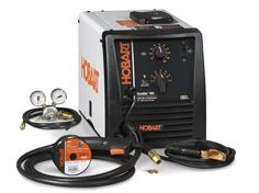 Hobart 500554 Handler 190 Wire Feed Welder  Features a 7-position voltage switch.  Operates on 230V input power and offers an output range of 25 to 190 amps.