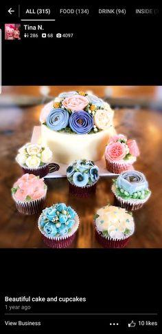 Cake and cupcakes : Y tea Mini Cupcakes, Cupcake Cakes, Beautiful Cakes, Tea Time, Desserts, Food, Tailgate Desserts, Deserts, Essen