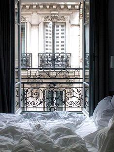 Paris Photography Parisian Bedroom Parisian Window Bedroom | Etsy #CozyBedroom
