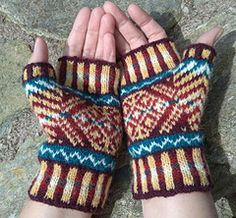 Ravelry: Skaw Mitts pattern by Lesley Smith Designs