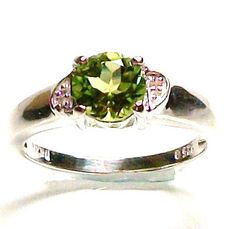 Peridot accent ring set in sterling silver s 8 by Michaelangelas, $43.50  Free worldwide shipping & sizing!