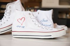 PERFECT WEDDING. WEDDING APPAREL. JUST MARRIED. DESIGN YOUR OWN PRINT ON SNEAKERS AT WANNASHOE.COM