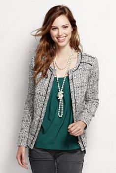 Women's Novelty Texture Jacket from Lands' End  Size 6!