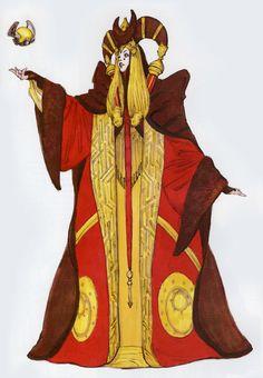Star Wars - Padme Amidala concept art by Iain McCaig