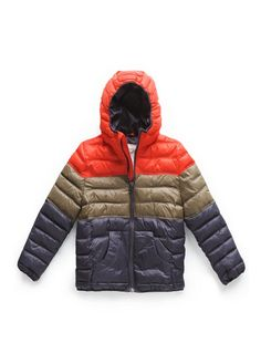 Tricolor quilted coat