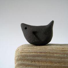 Mirlo pájaro de cerámica hecha a mano arcilla de por judeallman