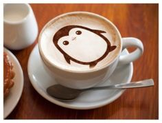 latte art - penguin