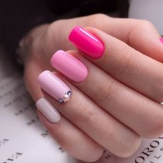 Top 35 Fabulous Gel Nails to Inspire Elegant Gel Nail Art Designs gel nail designs are very well-liked today. ample ladies wear gel nails as they grant ample blessings. Such a manicure c Pretty Gel Nails, Pink Gel Nails, Nails Polish, Gel Nail Colors, My Nails, Acrylic Nails, Pink Manicure, Gradient Nails, Gel Nail Art Designs
