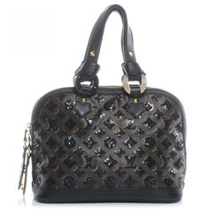 This is an authentic LOUIS VUITTON Monogram Eclipse Alma Black Noir Sequins.  This stunning tote is a classic Alma style with an added eclipse layer of monogram sequins above the classic Louis Vuitton monogram on toile canvas.  The bag features thick strap handles of black cowhide leather and a leather base with bold polished brass hardware including decorative zipper pulls.  These open to a black microfiber interior with zipper and patch pockets.  This is a marvelous tote that is suitable…