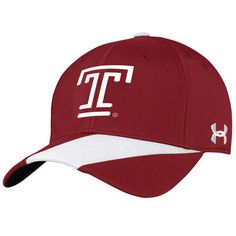 Temple Owls Under Armour Sideline Renegade Accent Performance Adjustable Hat - Crimson