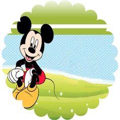 Toppers o Etiquetas de Mickey para Imprimir Gratis.