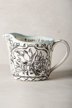 Molly Hatch Storybook Flora Measuring Cup #anthrofave #anthropologie