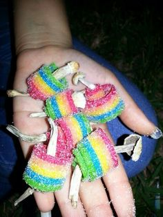shrooms wrapped with medicated sour belts. this is a smart idea.