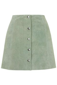Photo 1 of Suede Button Through A-Line Skirt