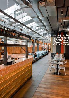 Marzua: El nuevo restaurante Jamie´s Italian, una porción de la Italia de los 50 en el centro de Londres por el estudio Blacksheep