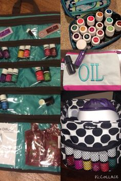 Some of my favorite Thirty-One products used for Young Living Essential Oils! Contact me for more info, www.mythirtyone.com/emilye and shareoilylove@yahoo.com.