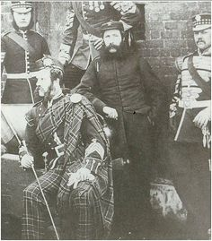 Pipe-Major and Drum-Major, Scots Guards c1863