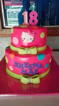 Hello kitty covered with milk fondant
