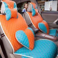 Sweet Decorative and Universal PU Car Seat Covers on sale, Buy Retail Price Seat Covers at Beddinginn.com
