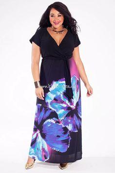 54c4c86ab96c IGIGI Women s Plus Size Alison Maxi Dress in Sapphire Romance With a  flattering empire-line silhouette