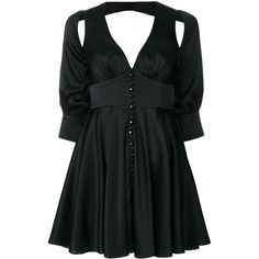Parlor mini dress (3 575 PLN) ❤ liked on Polyvore featuring dresses, black, circle skirts, cut out mini dress, parlor, short dresses and cutout mini dress