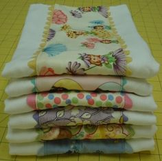 Bee In My Bonnet: burp clothes with rick-rack