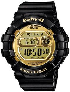 Casio Women's BGD141-1DR Baby-G Black Gold Digital Shiny Dial Sport Watch BGD-141-1DR Limited Edition