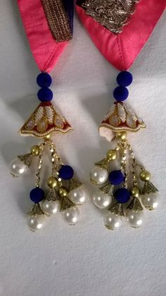 Duppata Pearls Latkans #HandmadeCreations