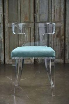 "Veronica Acrylic Chair - Mecox Gardens 21"" x 20"" x 31"" H"