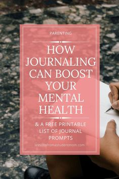 Keeping a regular journal can be extremely beneficial to your health. That's why I recommend journaling for mental health.