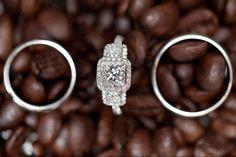 coffee beans ring shot