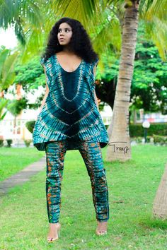 The mali African Ankara print Adire tye and dye set Hand made Tye and Dye fabric Fast worldwide delivery available Available in UK sizes African Fashion Designers, Latest African Fashion Dresses, African Print Fashion, African Print Pants, Africa Fashion, African Attire, African Wear, African Dress, African Style