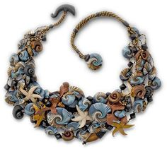 Polymer Clay Embroidery Tutorial   Laura Timmins' new polymer Ocean Yoko necklace sends us back to the ...