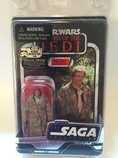 "Star Wars TSC Han Solo Trenchcoat 3 75"" Figure New 2006 Vintage ROTJ Saga Case   eBay"